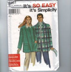 Womens Sewing Pattern Simplicity 8461 Easy by historicallypatterns