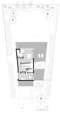 Plano de casa de dos plantas - segundo piso