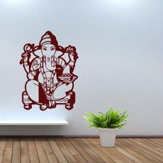 Wall Decal Art Decor Decals Sticker Elephant Ganesh Buddhism India Indian Yoga Buddha Success God Lord (M98) DecorWallDecals http://www.amazon.com/dp/B00FVSGY2O/ref=cm_sw_r_pi_dp_RoOXub05EHMZC