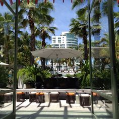 Walking out of the lobby into the pool area at La Concha Renaissance Hotel in San Juan, PR. Simply beautiful!