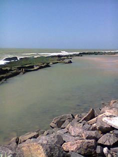 Piscina natural praia do pina, Brasilia Teimosa, Recife Pernambuco Brasil.