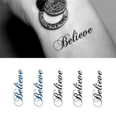 Believe In Yourself  Cool Temporary Tattoos Motivational