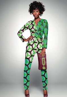 Using green sheer over pattern sporatically.From the archive: a party look from Vlisco's 2011 'Delicate Shades' collection African Attire, African Wear, African Women, African Dress, African Style, African Inspired Fashion, African Fashion, Ankara Fashion, Fashion Mode