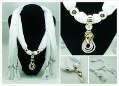 chiffon scarf beads necklace - Google Search