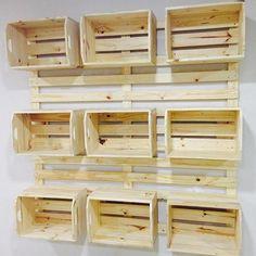 Painel de caixotes ✅♻️ #painel #caixotes #palete #pinus #pallet #paletes #mundopalete