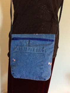 Recycled Blue Jean Purse by jeanoligy on Etsy