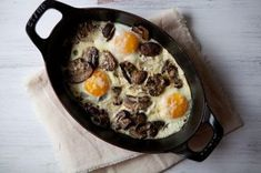 Baked Eggs with Mushrooms and Gruyere Recipe on Food52 recipe on Food52