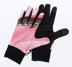 Huntworth Pink Camo Touch Tip Fleece Gloves