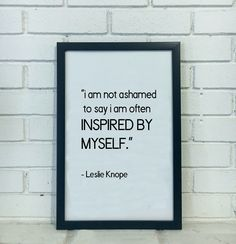 Leslie Knope Quote Print - Parks and Rec Poster Parks and Rec Print Amy Poehler Gifts for Her Feminist Gift Inspirational Wall Art for Women by hearherout on Etsy https://www.etsy.com/listing/511482481/leslie-knope-quote-print-parks-and-rec