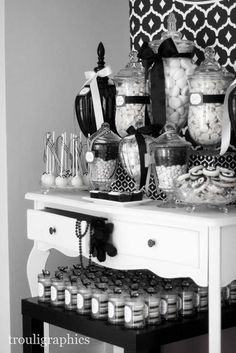 black and white theme party | Black and White Themed 40th Birthday by Trouli Graphics