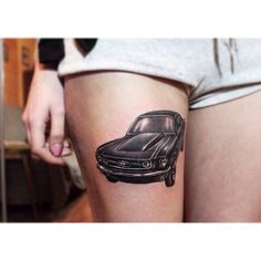 Mustang tattoo ink