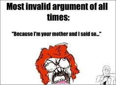 MOM Its an Invalid Argument.... - Posted in Funny, Troll comics and LOL Images - Stunning Pics
