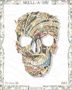 #Skull 16 of 31 for the Skull-A-Day series by GIGART. See them all at www.gigart.com