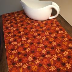 Updated listing photos! Such a festive Fall and Thanksgiving fabric! #etsy
