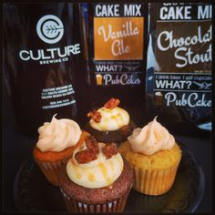 Culture Brewing Co IPA cupcakes AND Milk Stout chocolate cupcakes. Beer Cupcakes, Baking Cupcakes, Gifts For Beer Lovers, Beer Gifts, Ipa Recipe, Cup Decorating, Cooking With Beer, Beer Snob, Brewing Co