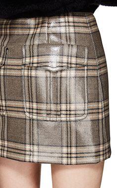 a8beb2bccf Fendi Coated Wool Tweed Miniskirt   Barneys New York Fendi Coat, Barneys  New York,