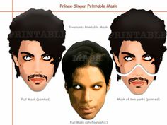 This listing is for (4 pdf patterns)Unique Prince Singer Printable Masks-best choice birthday, decoration party, photo props or your child(or an adult). MASKS AND CHARACTERS IN THIS LISTING: • Prince Singer Masks Paper mask easy to print, cut and enjoy! You will need Adobe Reader in order to open each file. Get it FREE at Adobe.com All masks are of one common scheme. They are ideal for toddlers, children(5+) or adults! INSTANT DOWNLOAD INCLUDES: • 1 PDF (4 pdf patterns) file ready for…