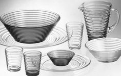 Aino Aalto, wife of esteemed architect and glass designer Alvar Aalto, won the 1932 iittala-Karhula design competition in Finland and the gold prize at the Milan Triennale in 1936 for her functionalist glassware collection.