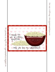 Sugar Bean Bakers: { Free Printable: I Need to Ask A Corny Question }