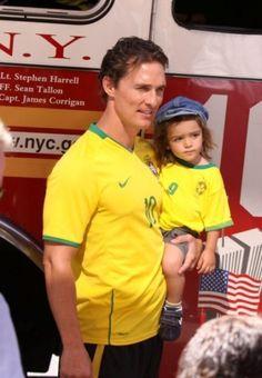 Matthew McConaughey cheers on Brazil