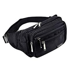 oxpecker Waist Pack Bag with Rain Cover, Waterproof Fanny Pack for Men&Women, Workout Traveling Casual Running Hiking Cycling, Hip Bum Bag with Adjustable Strap for Outdoors (Black Base Floral) Waterproof Fanny Pack, Hiking Bag, Running Belt, Waist Pouch, Bum Bag, Shoulder Bag, Pure Products, Bags, Hiking Fashion