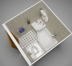 Baignoire-douche et lavabo dans 150x75cm, il suffisait d'y penser !