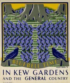 """Bluebell Time in Kew Gardens"" by Margaret Calkin James, 1931."