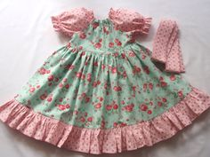Girls Peasant Dress and Sash Easter Dress by Hopscotchavenue, $49.95
