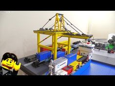 (5) LEGO STS Container Gantry Crane build update Jan 19, 2018 - YouTube
