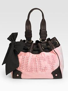 New juicy couture daydreamer heather grey pink scottie bag purse ...