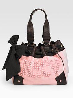 Juicy Pink/Black Studded Handbag