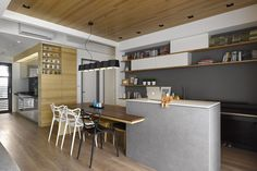 Liu's Warm Wooden Apartment in Taipei City by HOYA Design