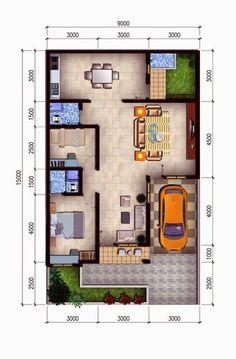 25 Contoh Denah Rumah Minimalis Type 36 Berbagai Model | Renovasi-Rumah.net