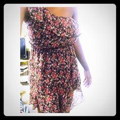Dress From A'gaci worn once One shoulder floral dress a'gaci Dresses