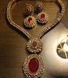 Rubi gold plaited jewellery set by my now days favourite designer zaheen kamran