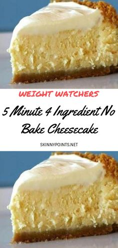 5 Minute 4 Ingredient No Bake Cheesecake Minute 15 Mouth Watering Keto Friendly Cheesecake Ideas Low Calorie Cheesecake, Skinny Cheesecake, Weight Watchers Cheesecake, Best No Bake Cheesecake, Healthy Cheesecake Recipes, Baked Cheesecake Recipe, Weight Watchers Desserts, No Bake Cheescake, Cheesecake Tarts
