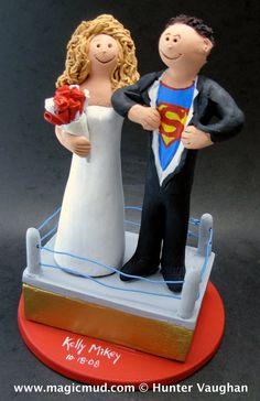 Superman Groom Wedding Cake Topper