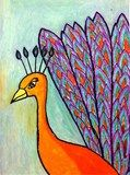 Artsonia Art Exhibit :: 5th Grade Peacocks (Previte)
