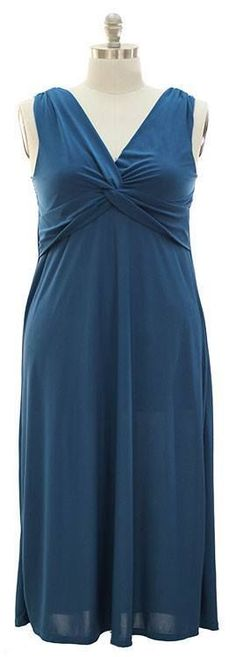 Pretty Plus size Maxi Surplice Dress -Rich Teal color 2X   NICE! #NEWYORKANNA #Maxi #Formal