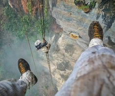 """natgeo: """"Photo by @renan_ozturk @camp4collective for #TheLastHoneyHunter assignment.   Words by @m_synnott   As I was gearing up for the expedition my wife asked So will you need to go down on the cliffs with the honey hunters?  Definitely not I replied. Im just there to document whats happening which I can easily do from afar.   A few weeks later Im curled up in a small hut in the village of Sadhi in eastern Nepal. Ive spent the past two days shuffling back and forth between my bed and the…"""
