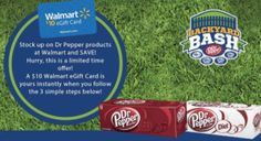 FREE $10 Walmart Gift Card with Dr. Pepper Purchase!  http://becomeacouponqueen.com