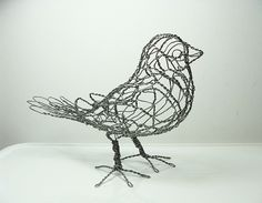 Wire Bird I want to make some bird by using wire, it should be blackbird or magpie bird, or I will do both of them.