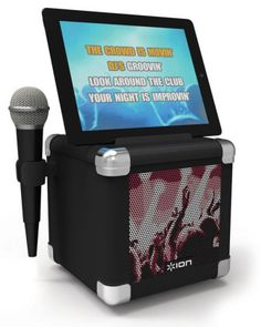 Ion Audio IPA46 Karaoke Pro Portable PA for Karaoke: Turn your iPad into a karaoke machine with this portable speaker! Just download the free app and pop your iPad in the cradle. A microphone is included.