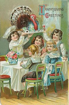 Thanksgiving 1908 Children Thanksgiving Dinner Antique Vintage Embossed Postcard Thanksgiving Circa 1908 Turkey platter arrives for family but it looks a little rare. Thanksgiving Blessings, Thanksgiving Greetings, Vintage Thanksgiving, Vintage Fall, Thanksgiving Crafts, Vintage Holiday, Vintage Halloween, Fall Halloween, Thanksgiving Graphics