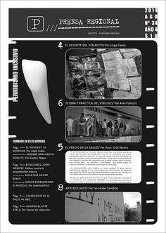 Diseño editorial Portada periódico Prensa Regional Nº 34 Alcorta, agosto 2014
