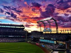 Sunset at Safeco Field, Seattle, WA. (Photo: Vienna Catalani)