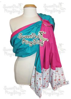 www.sweetpearingslings.com custom order Flamingos! babywearing ring sling