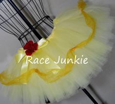 Belle Beauty and the Beast Princess Running Tutu. 9 inch tutu. $39.95, via Etsy.