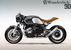 BMW Ninet design for Wunderlich Side left cafe racer Manx Style