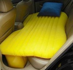 Backseat Air Mattresses For Cars..umm yes! I could picture it now on the next long road trip :)